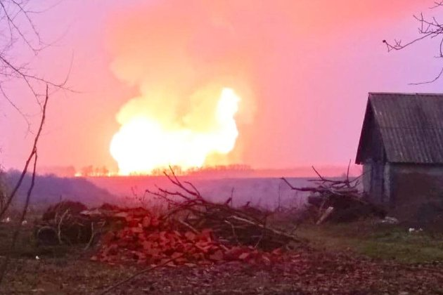 На Полтавщині полум'я на місці вибуху магістрального газопроводу згасло