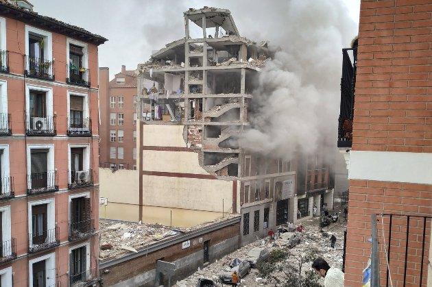 У центрі Мадрида стався вибух. Обрушилася частина багатоповерхового будинку