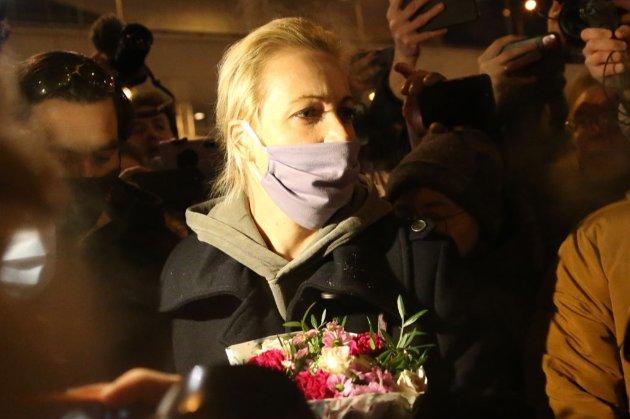 Дружину Навального затримали на акції протесту в Москві (відео)