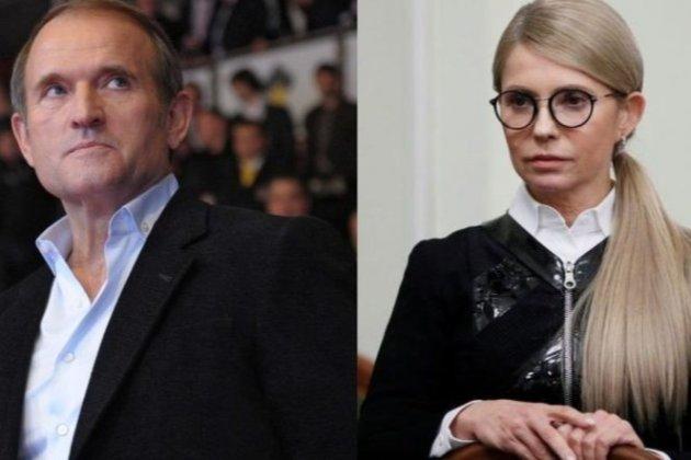 Тимошенко і Медведчук зберігають гроші в банку, яким володіла сім'я лідера БЮТ, — Лещенко