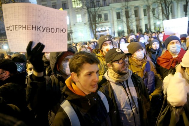 Справа Стерненка. На Банковій протестувальники намагаються прорватися до ОПУ