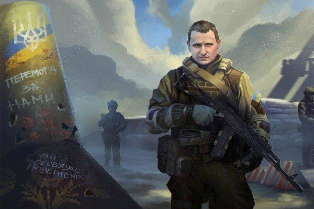 До річниці загибелі фото героя-контрозвідника розмістили на постерах міст Донецької області