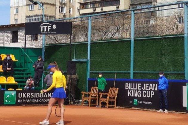 Під акомпанемент перфоратора. Українські тенісистки виграли у японок в Кубку Біллі Джин Кінг
