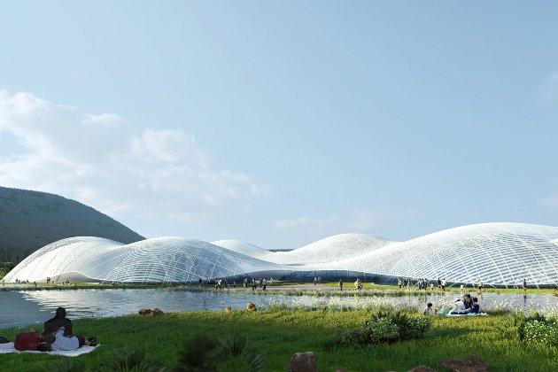 У Китаї побудують морський музей у вигляді хмар (фото)