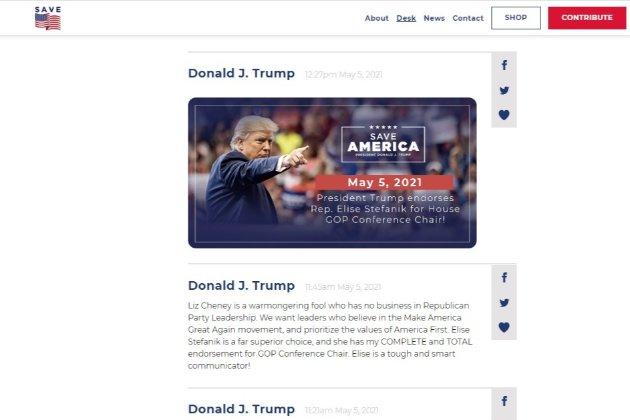 Twitter заблокував чотири акаунти за репости повідомлень з нового сайту Трампа