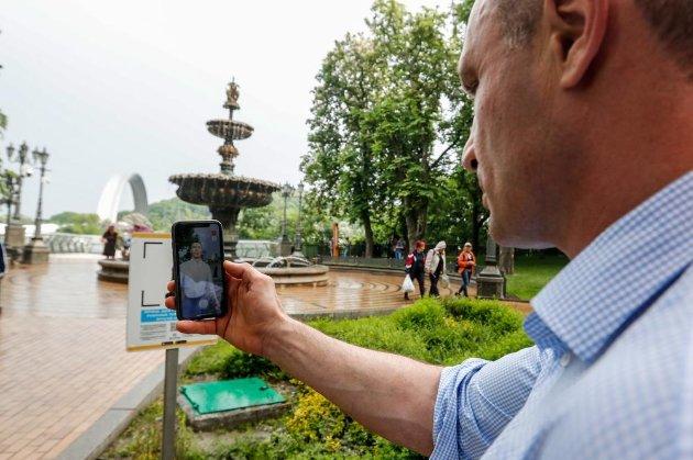 Digital-Кличко з'явився на Володимирській гірці та в парку «Наталка» (фото, відео)