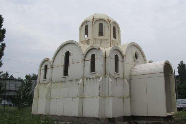 «Абсолютно нова технологія». У Херсоні будують церкву з пінопласту (відео)