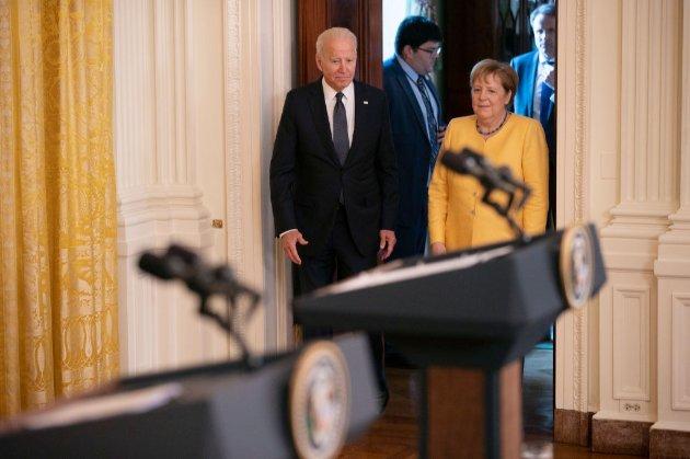 Обговорили «Північний потік-2» і згадали Україну. Підсумки зустрічі Байдена та Меркель у Вашингтоні