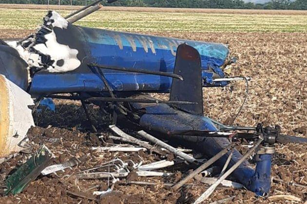 На Миколаївщині впав гелікоптер. Дві людини загинули (фото)