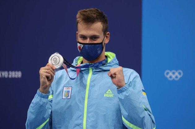 Плавець Романчук здобув для України першу срібну медаль на Олімпійських іграх в Токіо