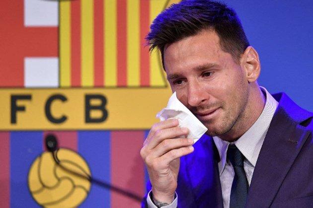 Серветку, якою Мессі витирав сльози на прощальній конференції «Барселони», продають за $1 млн