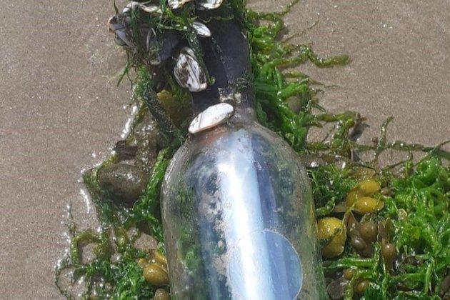 «Это как сокровище». Британка нашла на берегу моря бутылку с запиской из Канады, которая преодолела около 4800 км
