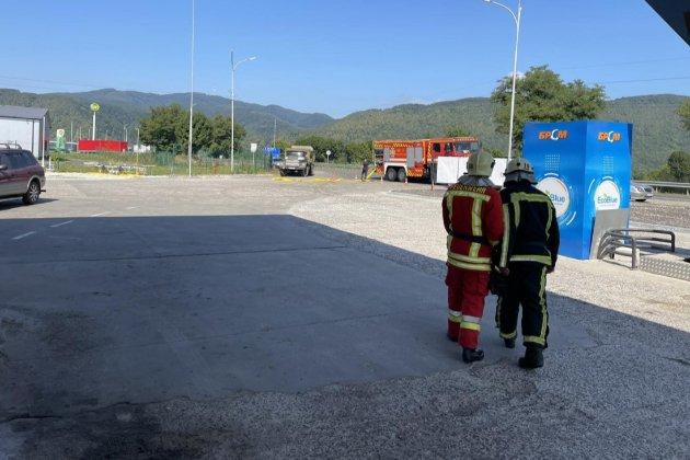 В Закарпатской области произошел взрыв на АЗС. Двое человек пострадали