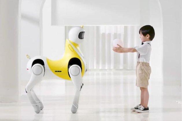 Китайський виробник автомобілівпоказавпроєкт робота-єдинорога для дітей