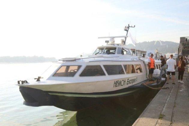 Річковий туристичний маршрут. Перша «Ракета» здійснила рейс від Києва до Канева