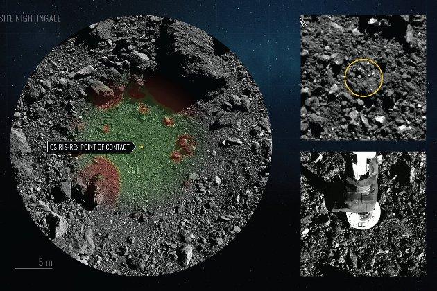 Безпілотний апарат OSIRIS-REx взяв проби ґрунту астероїда Бенну