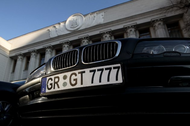 В Україні почнуть штрафувати водіїв на «євробляхах»