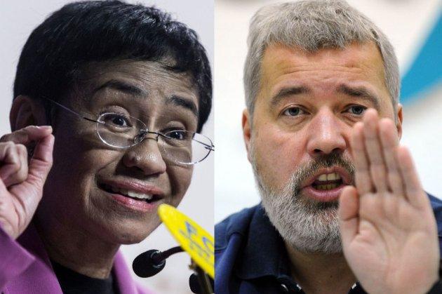 Нобелівську премію миру отримали головред російської «Нової газети» і журналістка CNN з Філіппін