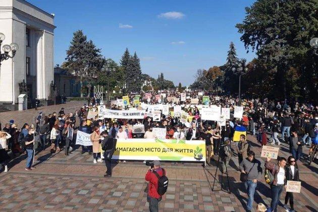 Зупинка забудови та реформа транспорту. За що виступають учасники «Маршу за Київ» (фото)