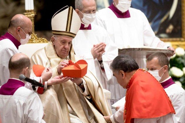 Папа Римський офіційно призначив 13 нових кардиналів