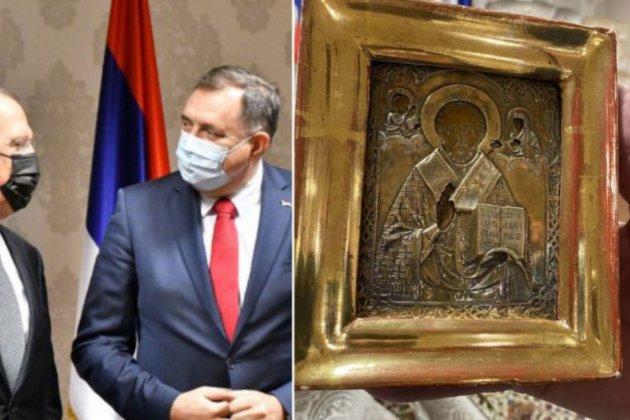 Печатка на подарованій Лаврову іконі у Боснії та Герцеговині вказує на власність України, стверджує Мінкульт