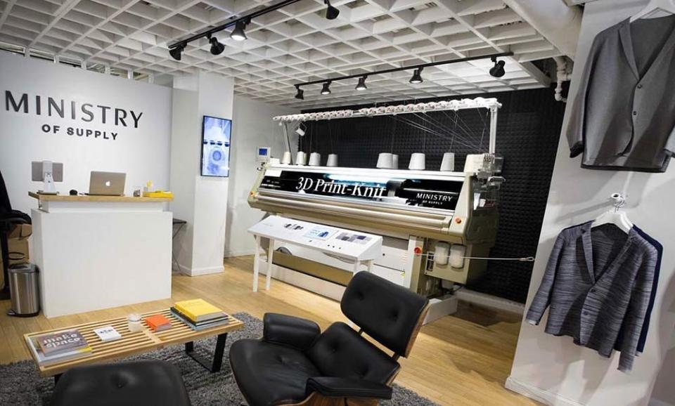 3D-принтер в магазині Ministry of Supply в Бостоні