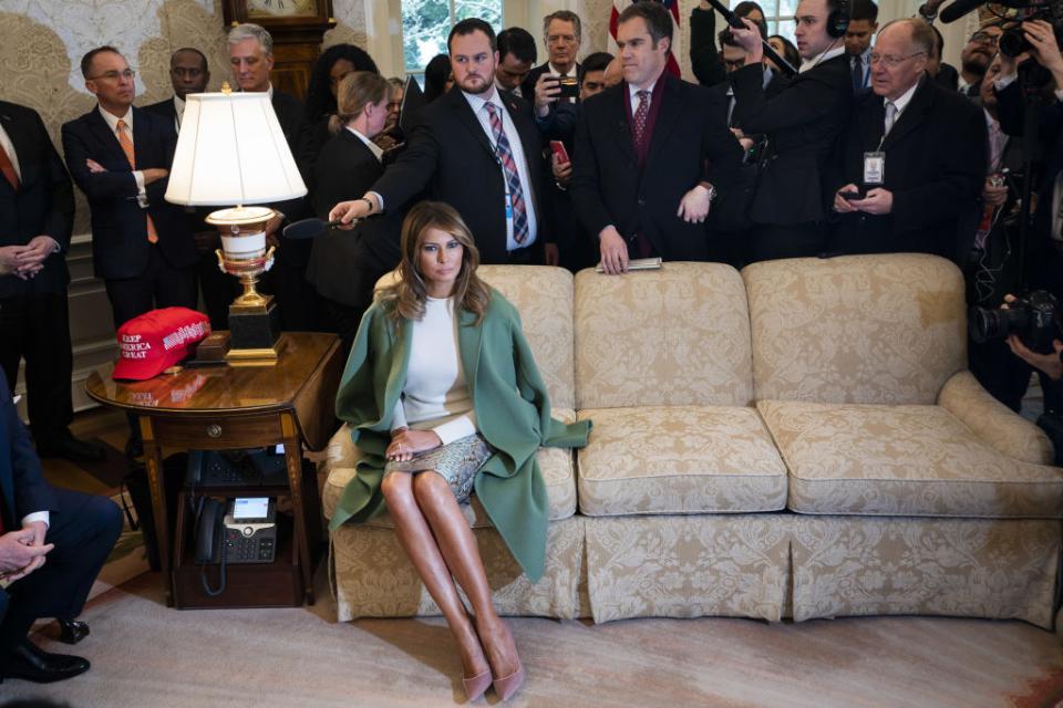 Меланія Трамп не може дочекатись розлучення зі своїм чоловіком, підстаркуватим лузером / Getty images