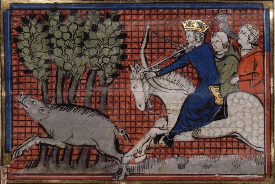 Іоанн ІІ Комнін на полюванні. Мініатюра з французької хроніки, 1337 рік