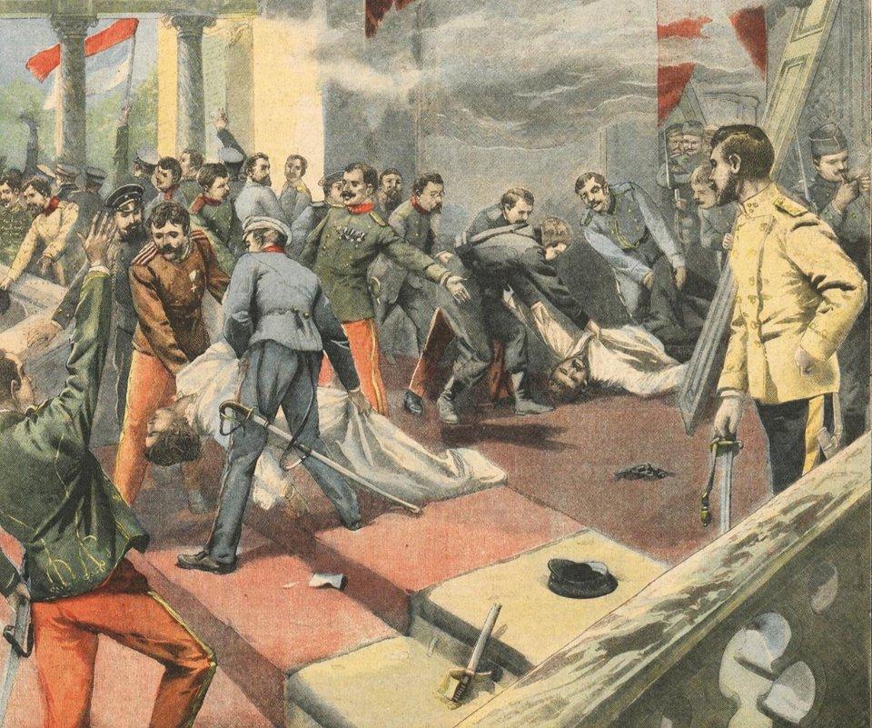 Обкладинка французької газети Le Petit Parisien, присвячена вбивству Александара та Драги