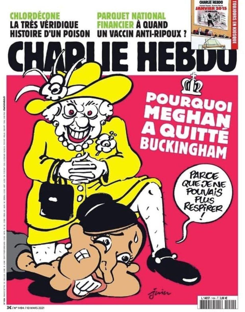 «Чому Меган полишила Букінгемський палац? Тому що я не можу більше дихати» / Charlie Hebdo