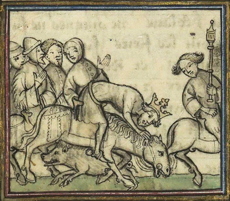 Смертельне зіткнення Філіпа зі свинею / Wikimedia Commons