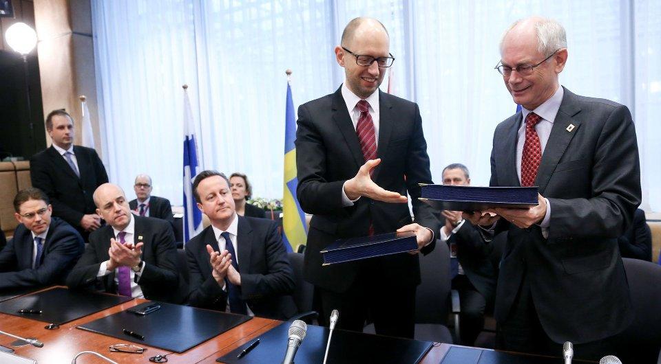 21 березня 2014 року Арсеній Яценюк підписав Угоду про асоциацію з ЄС / Getty images