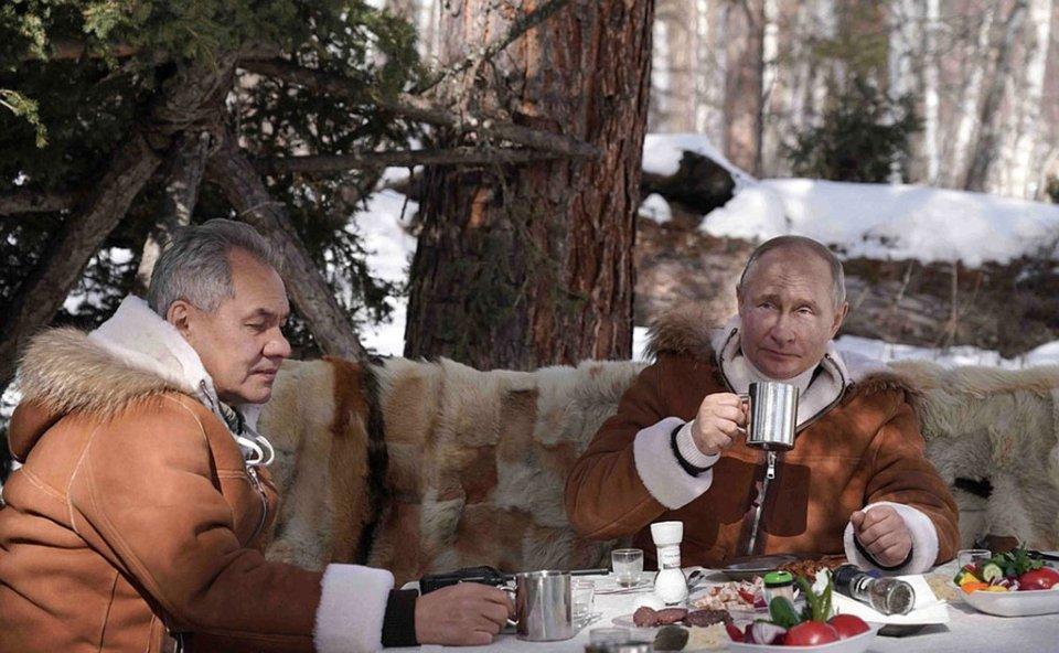 Зустріч Путіна та Шойгу у тайзі / відкриті джерела