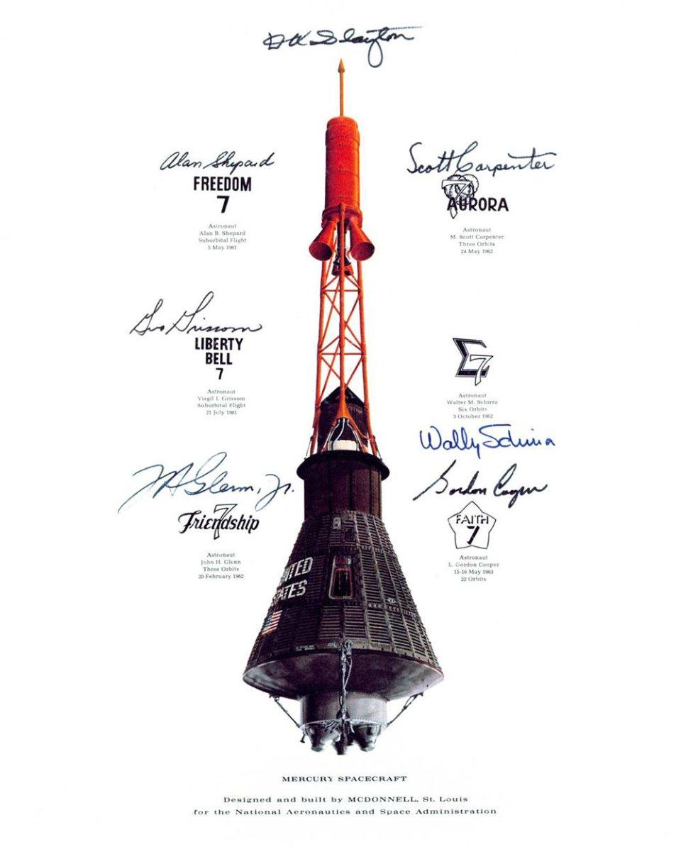 У кожного корабля Mercury було власне ім'я, але всі мали у назві цифру «7»  — на честь сімох перших астронавтів NASA