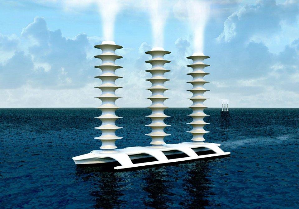 Такий геоінженерний корабель може плавати в океані, викидаючи сіль в повітря