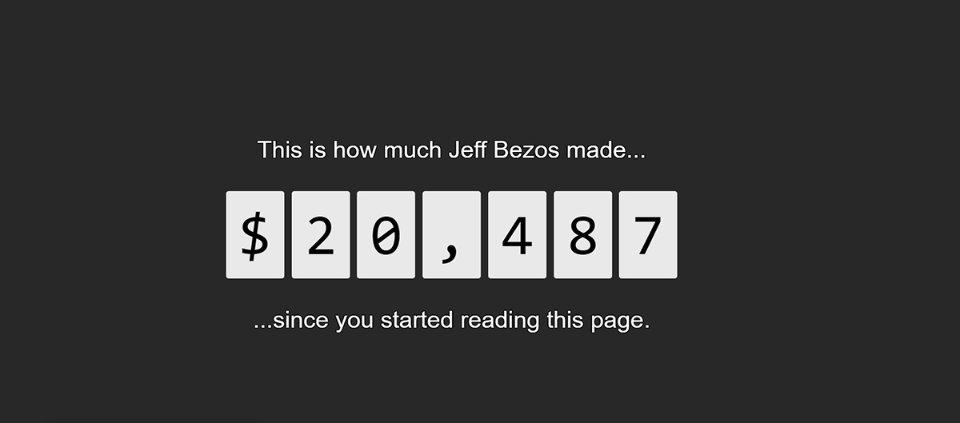 Стільки заробляє Джефф Безос, поки ви встаєте з дивана