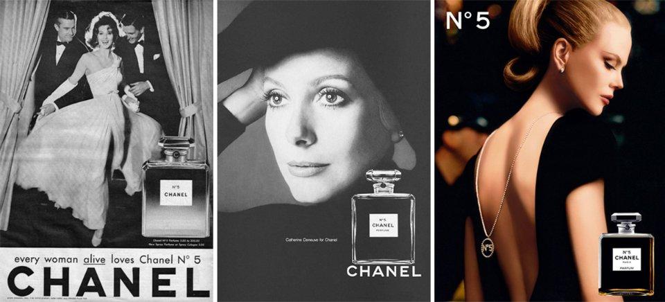 В післявоєнний період в рекламі Chanel №5 знімалися зірки світового рівня
