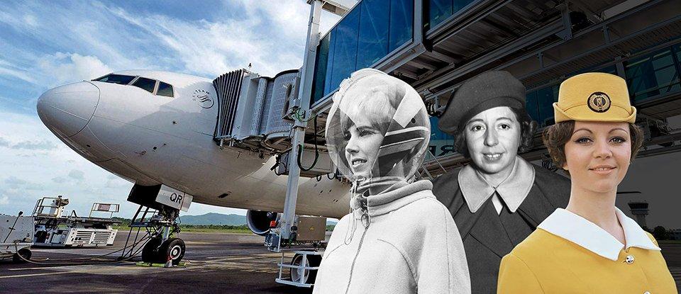 Стюардеса на ім'я Еллен. Як змінювався вигляд та робота бортпровідниць за останні 90 років
