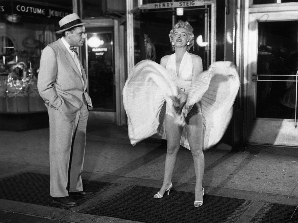 Монро в легендарній сцені у фільмі «Сверблячка сьомого року», 1955 рік / Getty Images