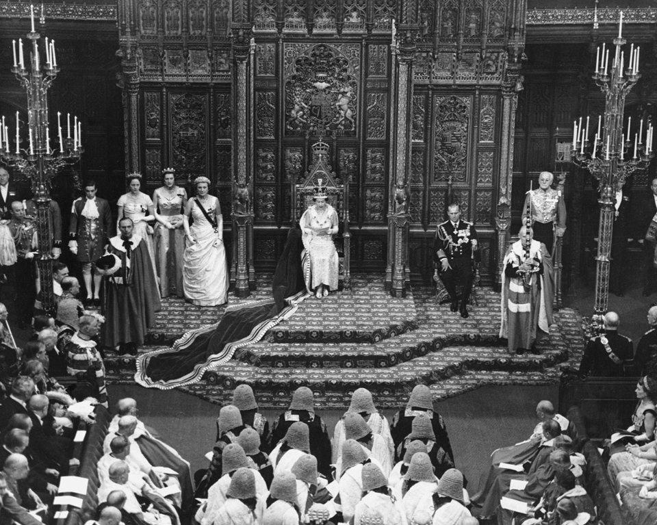 Промова в парламенті у 1958 році...