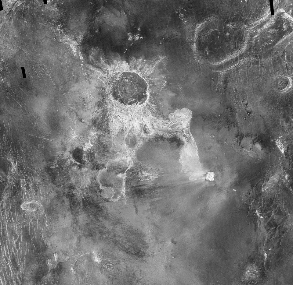 Ізабелла — один з найбільших кратерів Венери, сфотографований зондом Magellan
