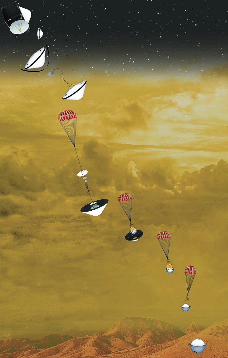Дослідницький апарат DAVINCI+ на Венері