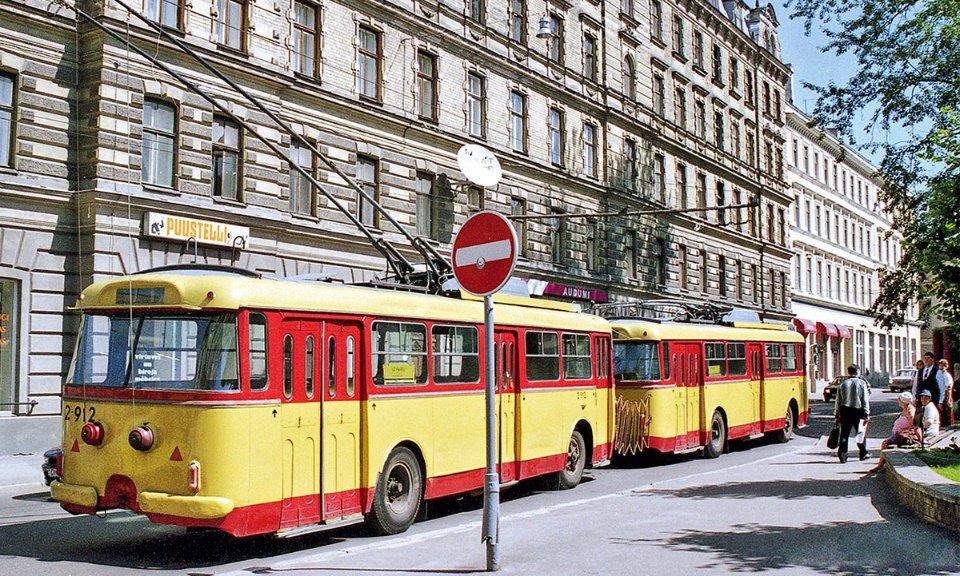 Тролейбусний потяг у Ризі