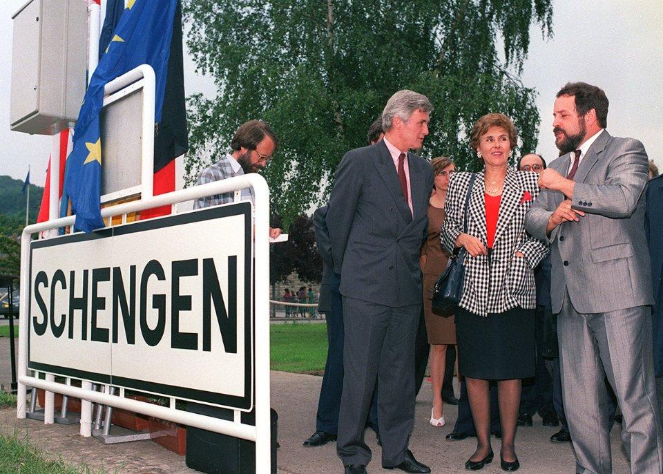 Міністри європейських країн у Шенгені у 1990 році / Getty Images