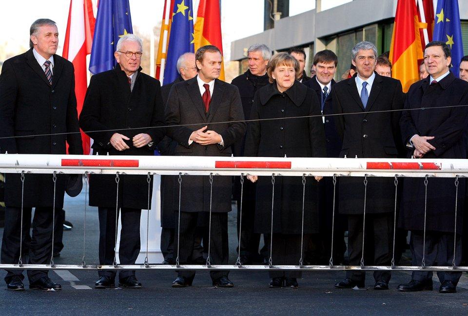 Нові учасники Шенгенської угоди. Циттау, Німеччина, 2007 рік / Getty Images