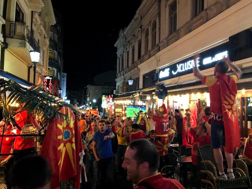 Македонська підтримка на вулицях міста / Костянтин Житкевич