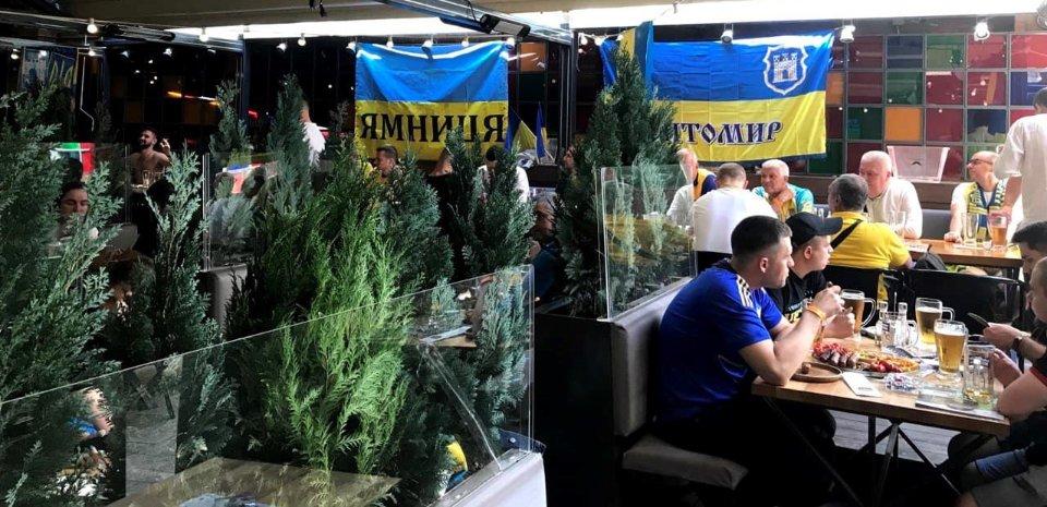 Паб у центрі Бухареста — місце зустрічі українських вболівальників / Костянтин Житкевич