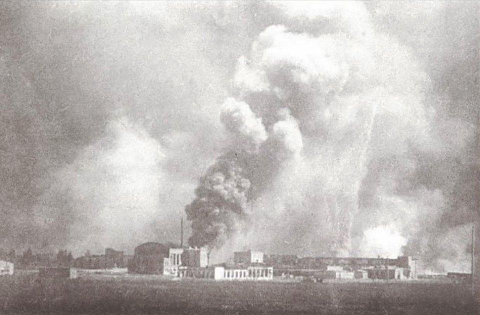 Пожежа на заводі «Більшовик» у Києві