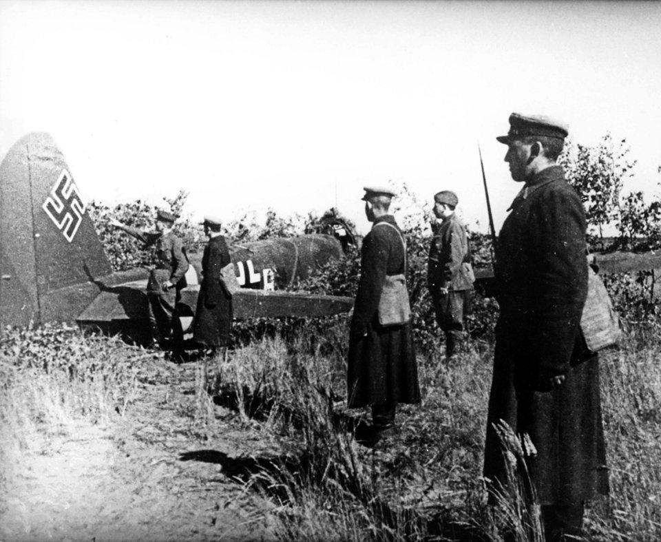 Першій німецький літак, який збили в Києві 22 червня