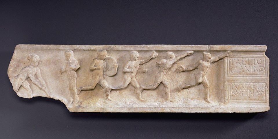 Фрагмент римського саркофагу із зображенням античних олімпійців / IOC